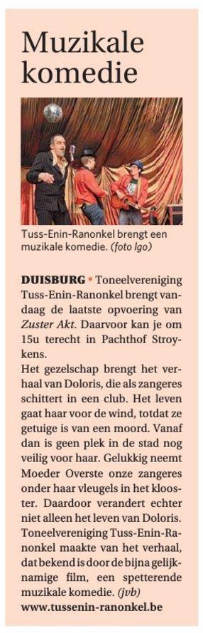 Publicatie in De Zondag